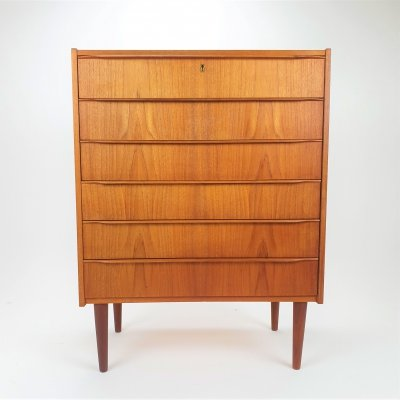 Mid Centurty Teak Chest of drawers, 1960s