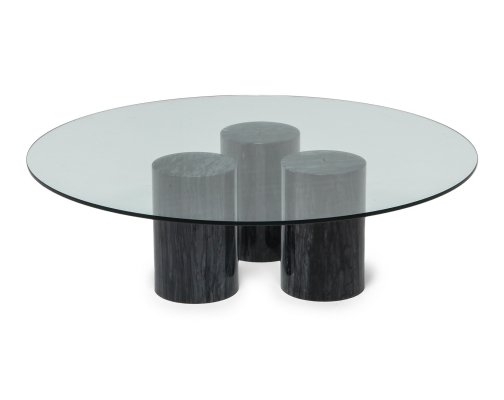 Mario Bellini Collonato Black Marble Coffee Table, 1970s