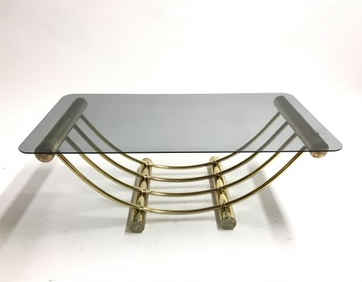 Brass coffee table by Belgo Chrom, 1970s