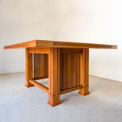 Frank Lloyd Wright 'Husser' table in natural cherrywood, 1990s