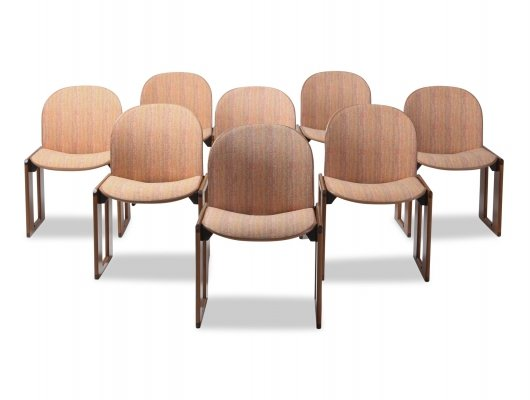 Set of 8 'Model 121' chairs by Afra & Tobia Scarpa for Cassina, 1970s