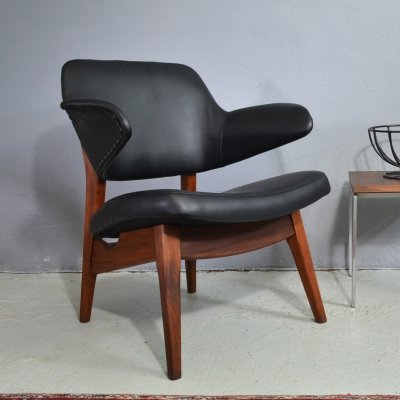 Teak armchair by Louis van Teeffelen for Webe, 1950's