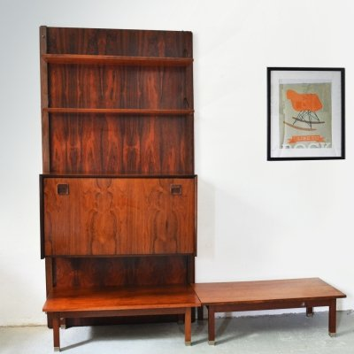 Vintage wall unit in Rosewood produced by Topform, 1960's