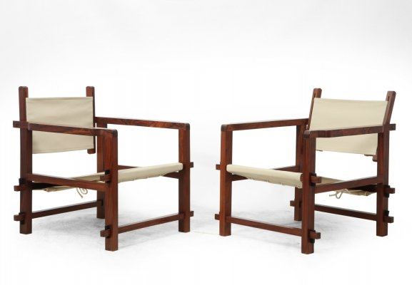 Pair of Brazilian Mid Century Sling Chairs