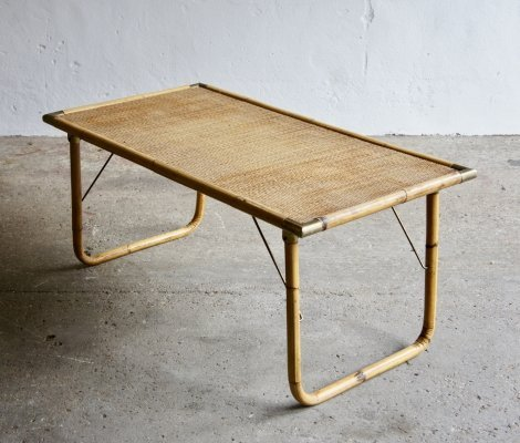 Midcentury Bamboo Coffee Table