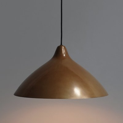 Gold metal pendant by Lisa Johansson Pape for Orno, Finland