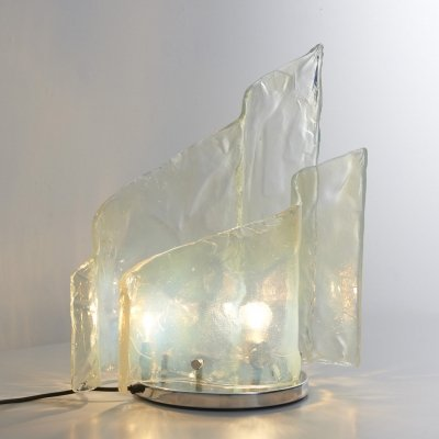 Opalescent table lamp by Carlo Nason