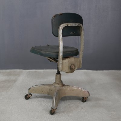 Gio Ponti swivel office chair produced by SIA (Published by Domus)