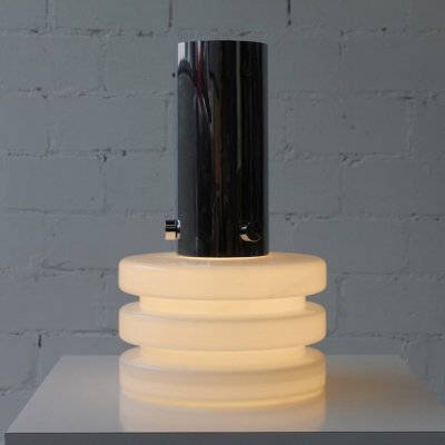Mouth blown Bauhaus Style Hanging Lamp by Glashütte Limburg