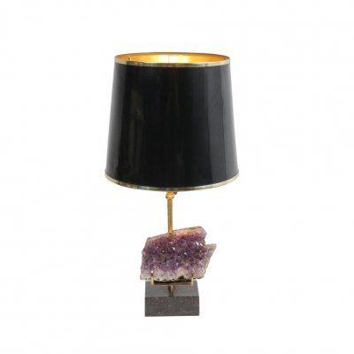 Amethyst Table Lamp, 1970s