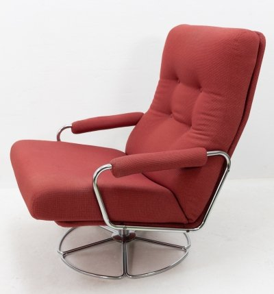 Rotatable lounge chair by Jan des Bouvrie for Gelderland, 1970s