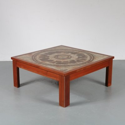 Ceramic top coffee table by Ox-Art, Denmark 1970s