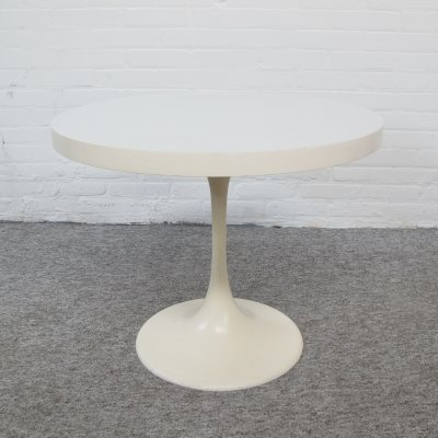 Vintage Pastoe white formica tulip side table, 1960s