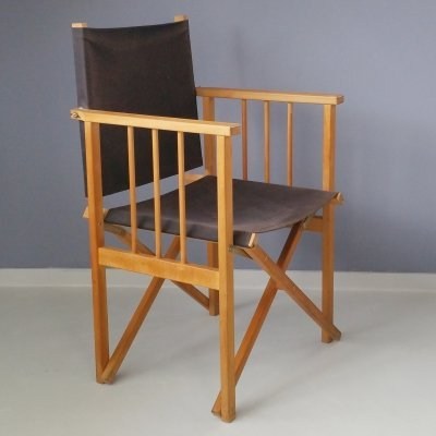 Foldable Director's Chair from Hyllinge Møbler, 1970s