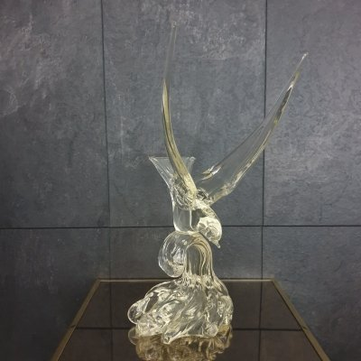 Murano Abstract Glass Bird Seagull Table Sculpture