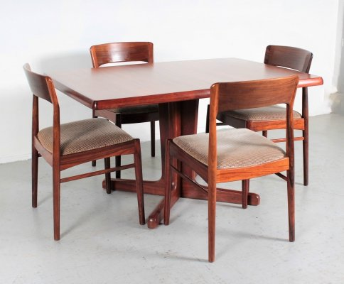 Palisander table & chairs by Kai Kristiansen for Korup Stolefabrik