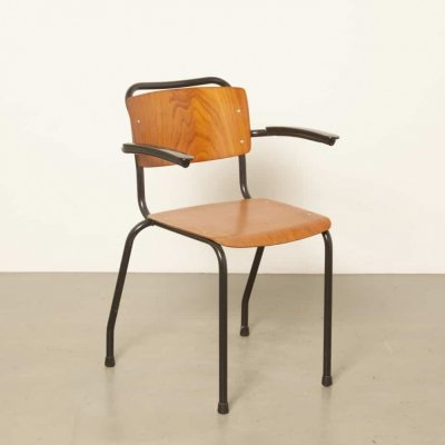 7 x Model 206 / TH-Delft arm chair by W. Gispen for Gispen, 1960s