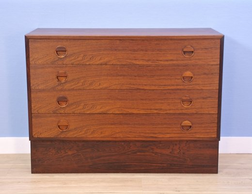 Danish chest of drawers in rosewood by Kai Kristiansen, 1960s