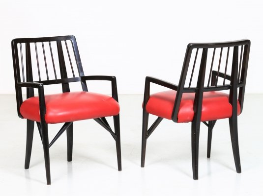 Set of 4 custom designed Dining Chairs by Paul Laszlo, USA 1950
