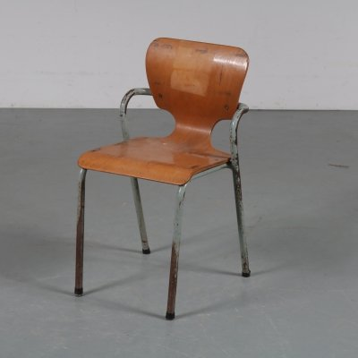 Industrial children chair by Ahrend de Cirkel, the Netherlands 1950s