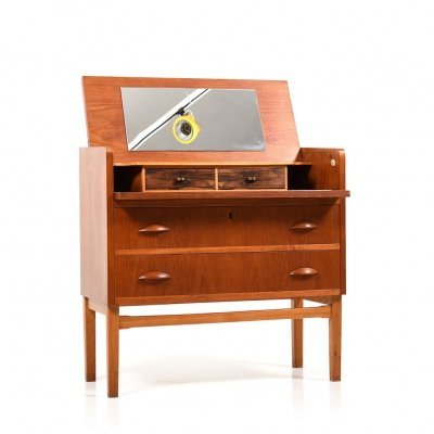 Early 1950s Danish Dressing Table in Teak, Oak & Rosewood