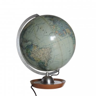 Vintage Illuminated Globe by JRO Globus, 1963