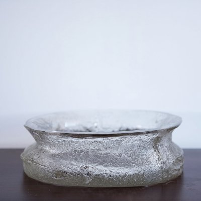 Finlandia bowl in bark glass designed by Timo Sarpaneva