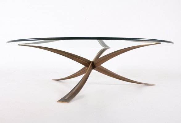 Bronze coffee table by Michel Mangematin