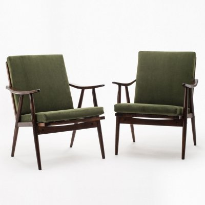 Pair of TON armchairs, 1960s