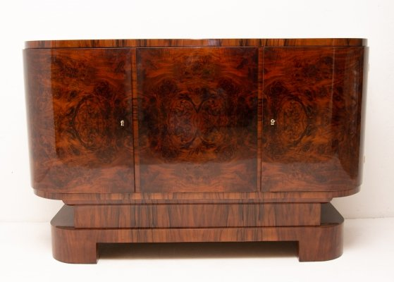 Art Deco walnut sideboard, 1930s
