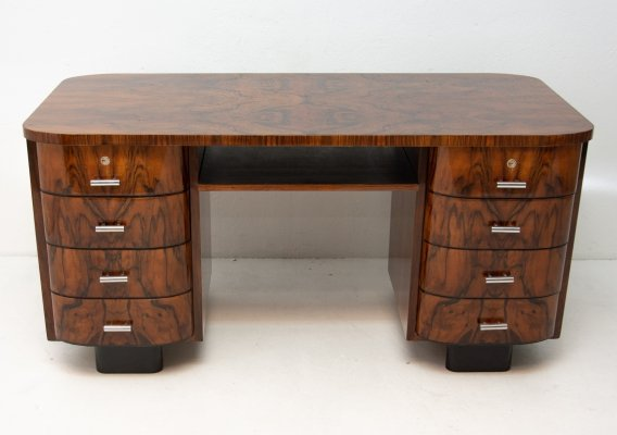 H-178 writing desk by Jindřich Halabala for UP Závody, 1930s