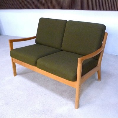 Danish Senator Oak Wood Two-Seater Sofa by Ole Wanscher for Cado, 1960s
