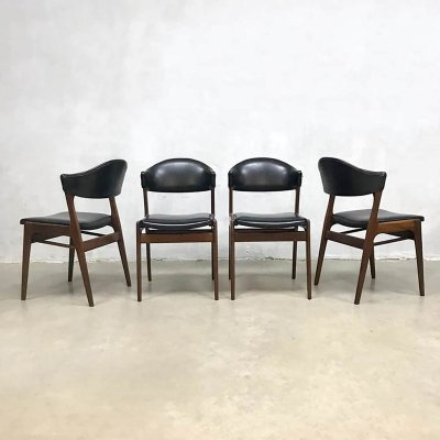 Set of 4 vintage Danish design dining chairs, 1950s