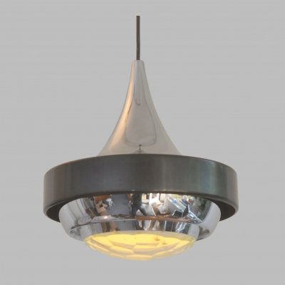 Stilnovo pendant lamp with faceted lens