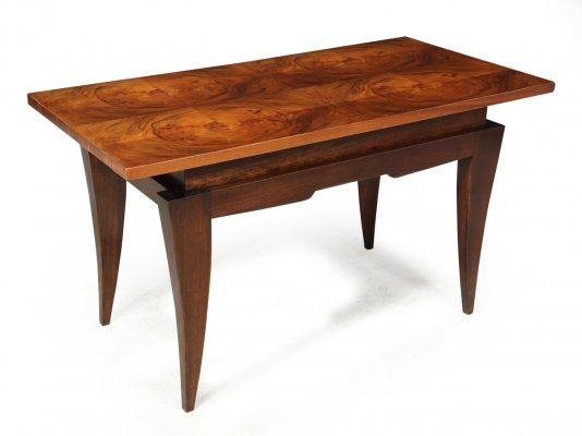 French Art Deco Walnut Coffee Table c1930