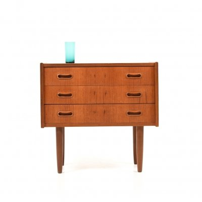 Small Danish Teak Wooden Chest of Drawers