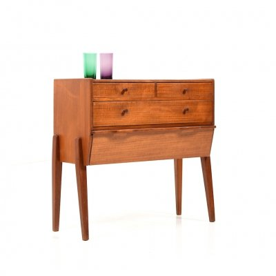 Early 1950s Danish Sewing Table in Teak