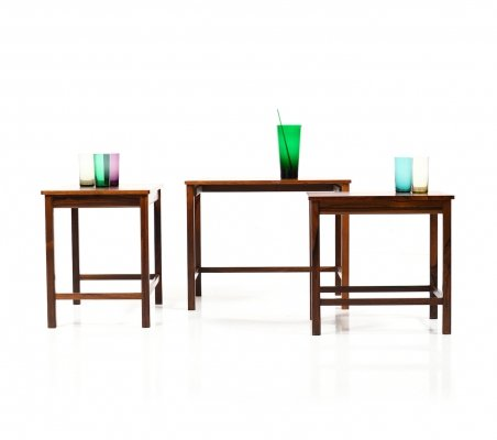 Mid Century fine Danish Nesting Tables in Rosewood
