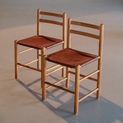 Set of 2 Dining Chairs by Ate van Apeldoorn for Houtwerk Hattem, 1960s