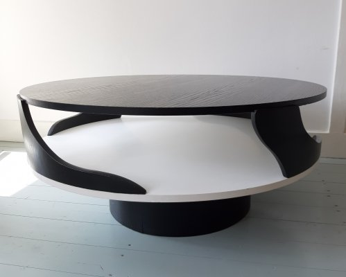 Space age table with 2 side top