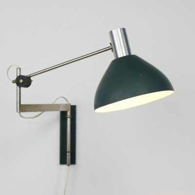 Swing arm wall lamp by Dijkstra Lampen, NL 1960s