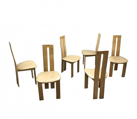 Set of 6 Dining chairs by Pietro Costantini for Ello, 1970s