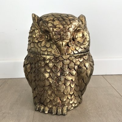 Owl ice bucket by Maura Manetti, 1960s