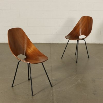 Pair of Medea Chairs by Vittorio Nobili for Tagliabue