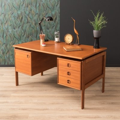 Teak writing desk, Denmark 1960s
