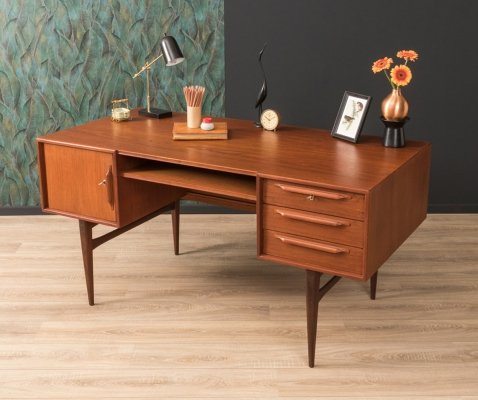 Teak writing desk by Heinrich Riestenpatt, Germany 1960s