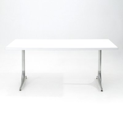White laminate top table by George Nelson for Herman Miller, 1950s