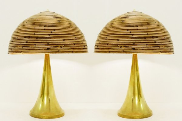 Pair of 'Fungo' lamps, 1960s