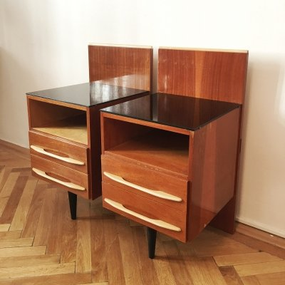 Pair of Nightstands by Mojmir Pozar for UP Zavody, 1960s