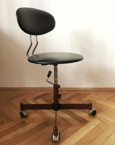 Industrial Black Office Chair from Kovona, 1970s